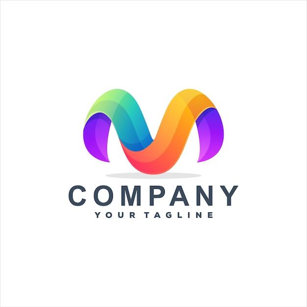 Projektowanie logo gradientowego litery m