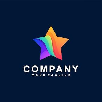 Projektowanie logo gradientu gwiazdy