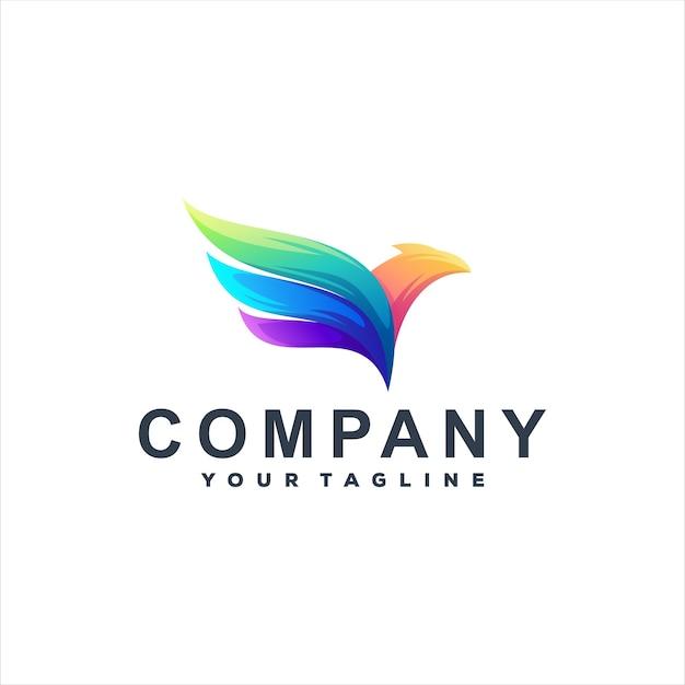 Projektowanie logo gradientu kolorów ptaków