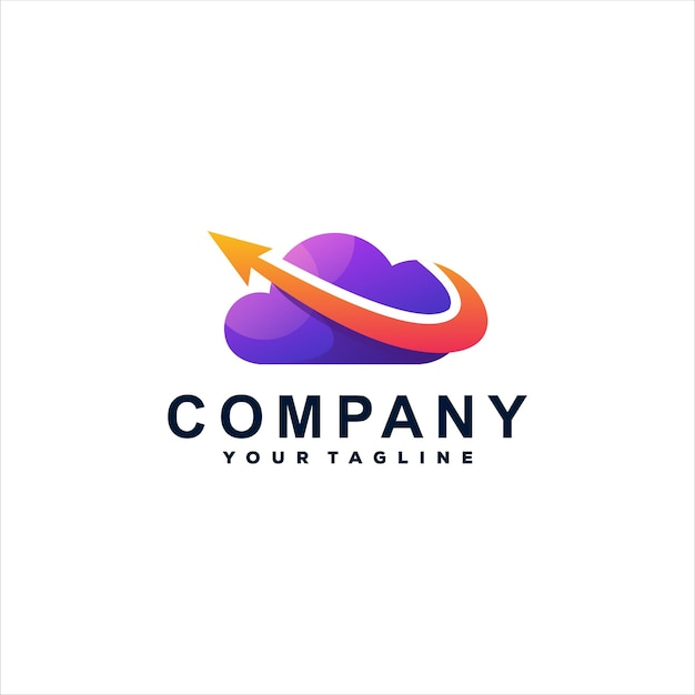 Projektowanie logo gradientu koloru chmury