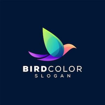 Projektowanie logo gradientu koloru ptaka