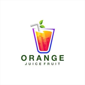 Projektowanie logo gradientu koloru soku