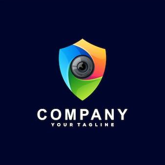 Projektowanie Logo Gradientu Koloru Tarczy Premium Wektorów