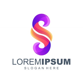 Projektowanie logo gradientu litery s