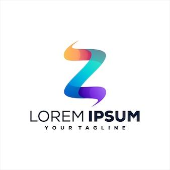 Projektowanie logo gradientu litery z