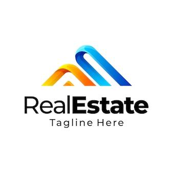 Projektowanie logo gradientu nieruchomości