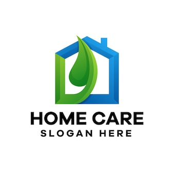 Projektowanie logo gradientu opieki domowej