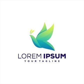 Projektowanie logo gradientu zielony motyl
