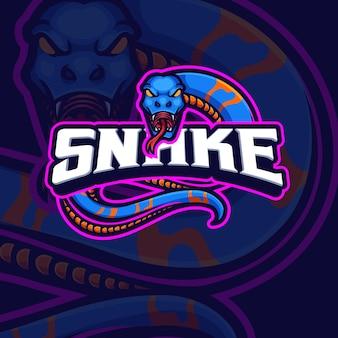 Projektowanie logo gry e-sportowej maskotki węża snake