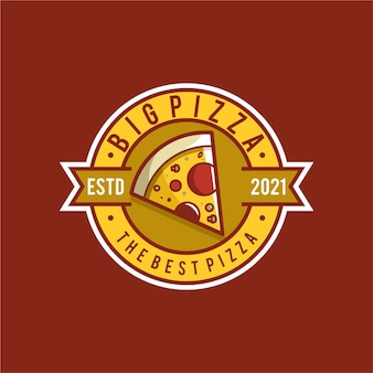 Projektowanie logo ilustracja pizzy