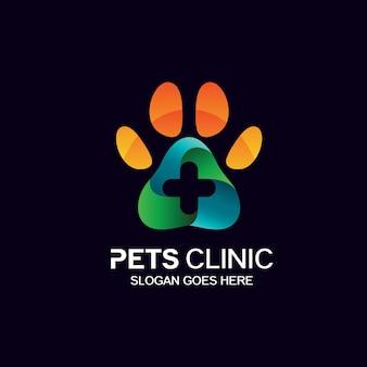 Projektowanie Logo Kliniki Zwierząt Premium Wektorów