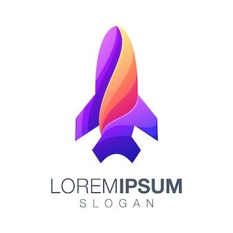 Projektowanie logo kolor gradientu rakiety