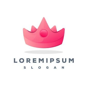 Projektowanie logo kolorowe korony