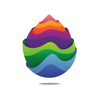 Projektowanie logo kolorowe kropla wody