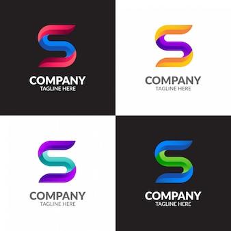 Projektowanie logo kolorowe nowoczesne litery s.