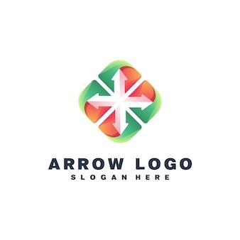 Projektowanie logo kolorowe strzałki