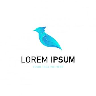 Projektowanie logo kolorowy ptak. logo zwierząt w stylu gradientu