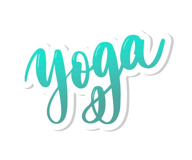Projektowanie logo koncepcji studio jogi
