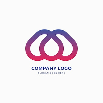 Projektowanie logo kropli litery m