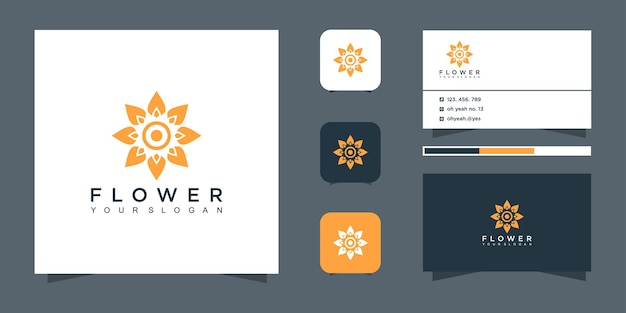 Projektowanie logo kwiat i wizytówki.