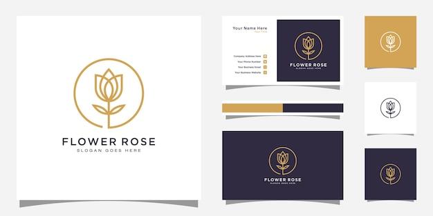 Projektowanie logo kwiat róży i projektowanie wizytówek