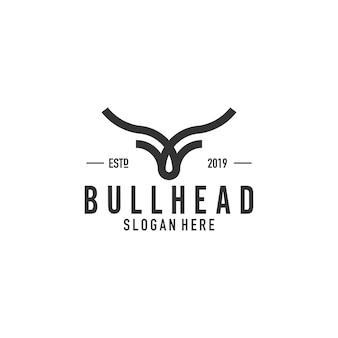 Projektowanie logo linii byka