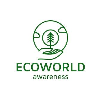 Projektowanie logo linii eco world care