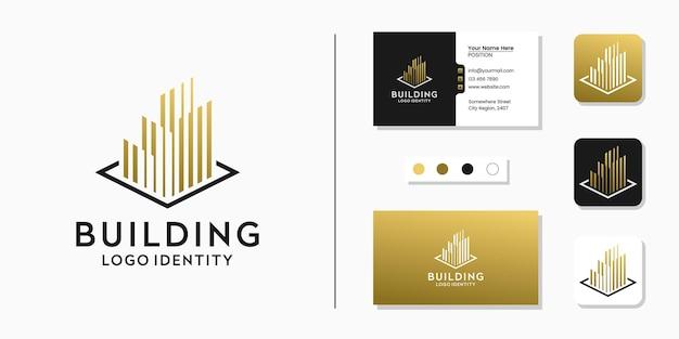 Projektowanie logo linii i wizytówek w pasach budowlanych