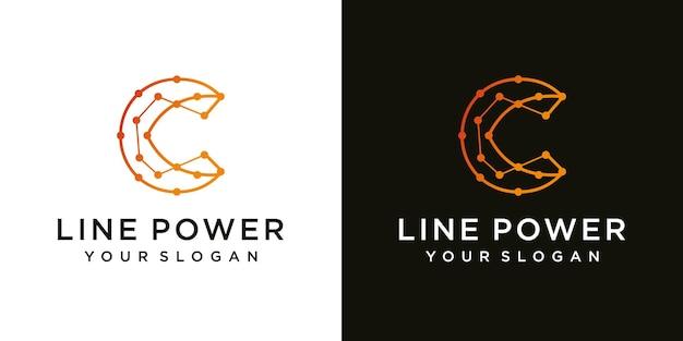 Projektowanie logo linii wektor litera c kreatywny minimalizm logotyp ikona symbol luxur