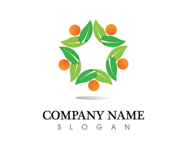Projektowanie logo liść drzewa wektor, koncepcja przyjazne dla środowiska.
