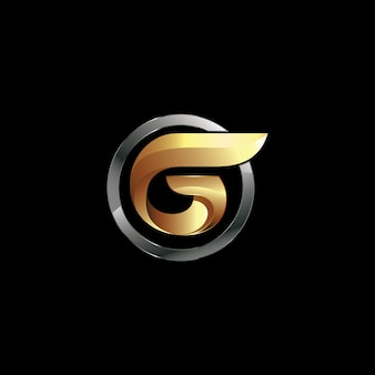 Projektowanie logo litera g w wektorze