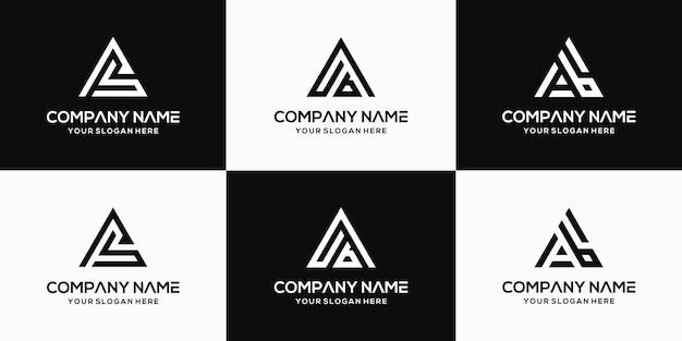 Projektowanie logo litery ab