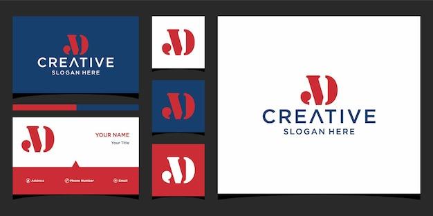 Projektowanie logo litery ad
