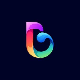 Projektowanie logo litery b.