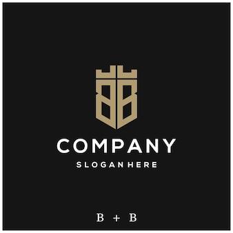 Projektowanie logo litery bb shield