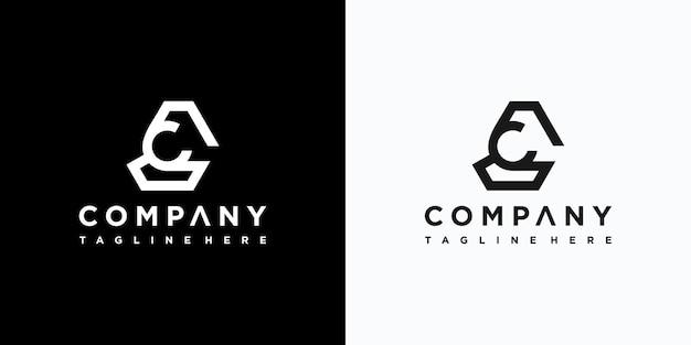 Projektowanie logo litery c premium wektorów