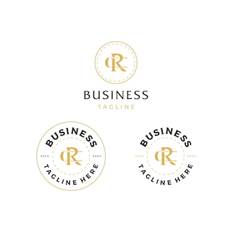 Projektowanie logo litery cr rc