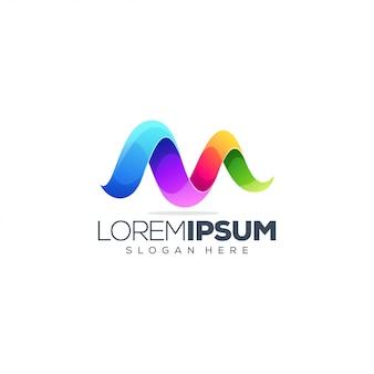 Projektowanie logo litery m.