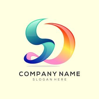 Projektowanie logo litery s premium vector