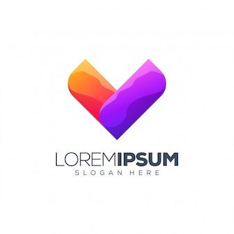 Projektowanie logo litery v.
