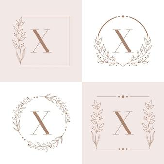 Projektowanie logo litery x z elementem liścia orchidei