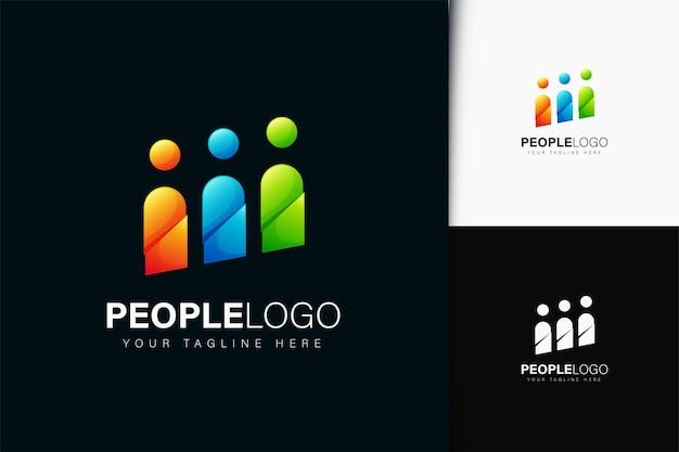 Projektowanie logo ludzi z gradientem