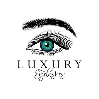 Projektowanie logo luksusowych rzęs