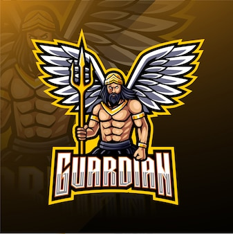 Projektowanie logo maskotka anioł stróż