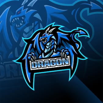 Projektowanie logo maskotka dragon esport