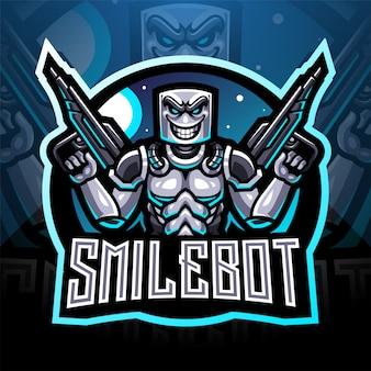 Projektowanie logo maskotka robot robota uśmiech