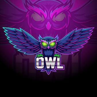 Projektowanie logo maskotka sowa esport