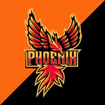 Projektowanie logo maskotka sportowa phoenix