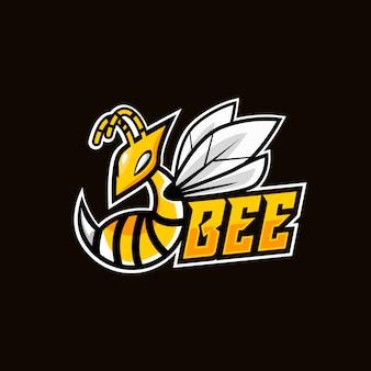 Projektowanie logo maskotka zły pszczoły esport