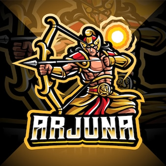 Projektowanie logo maskotki arjuna łucznika esport